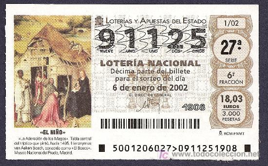 2002 AÑO COMPLETO LOTERIA NACIONAL CON JUEVES Y SÁBADOS (PR13) (Coleccionismo - Lotería Nacional)