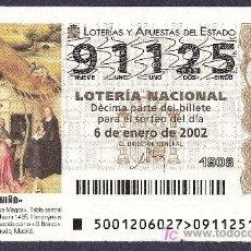 Lotería Nacional: 2002 AÑO COMPLETO LOTERIA NACIONAL CON JUEVES Y SÁBADOS (PR13). Lote 10174053