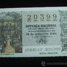Lotería Nacional: LOTERIA NACIONAL SORTEO 20 AÑO 1980. Lote 10477781