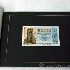 Loterie Nationale: DÉCIMO LOTERÍA NACIONAL 00000 26 FEBRERO 1977 SORTEO 8/77 EN CARPETA CARTÓN LOTERÍA. Lote 10485314