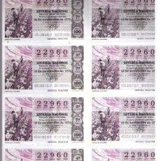 Lotería Nacional: LOTERIA.SERIE 7ª 22960 18 NOV. 1978. Lote 11114028