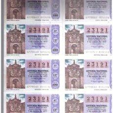 Lotería Nacional: LOTERÍA. SERIE 13ª 23191. 7 MAYO. 1977. Lote 11114505