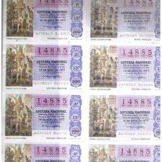Lotería Nacional: LOTERÍA. SERIE 13ª 14885. 16 ABRIL. 1977. Lote 11114545