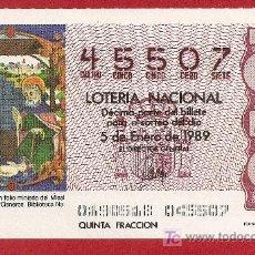 Lotería Nacional: 1989 AÑO COMPLETO LOTERIA NACIONAL (PR4). Lote 11688704