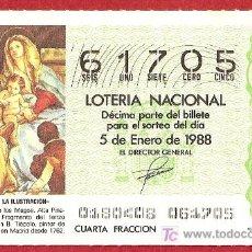 Lotería Nacional: 1988 AÑO COMPLETO LOTERIA NACIONAL (PR4). Lote 11688820