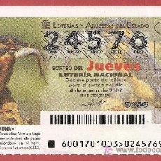 Lotería Nacional: 2007 AÑO COMPLETO LOTERIA NACIONAL CON JUEVES Y SÁBADOS. Lote 11682690