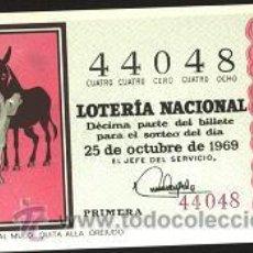 Lotería Nacional: LOTERÍA NACIONAL 1969 ( SORTEO 30 ). Lote 11920930