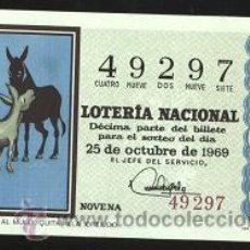 Lotería Nacional: LOTERÍA NACIONAL 1969 ( SORTEO 30 ). Lote 11920962