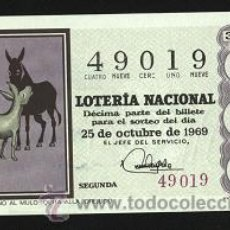 Lotería Nacional: LOTERÍA NACIONAL 1969 ( SORTEO 30 ). Lote 11920963