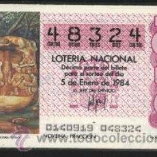 Lotería Nacional: LOTERÍA NACIONAL DE LOS SÁBADOS 1984 ( COLECCIÓN COMPLETA ). Lote 24515660