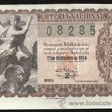 Lotería Nacional: LOTERÍA NACIONAL 1956 - 22 DE DICIEMBRE ( SORTEO 36 ). Lote 13029058