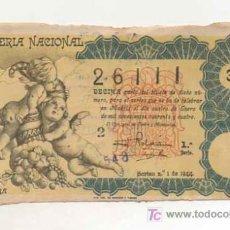 Lotería Nacional: LOTERIA NACIONAL. Nº 26111. 1944. . Lote 13514673