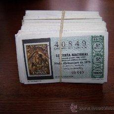 Lotería Nacional: LOTE DE 400 DECIMOS DE LOTERÍA NACIONAL ENTRE LOS AÑOS 1975 Y 1986. Lote 26341939