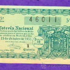 Lotería Nacional: LOTERIA NACIONAL SORTEO 30 DE 1955. Lote 21741613