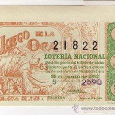 Lotería Nacional: DECIMO 25 DE JUNIO DE 1963 SORTEO 18 ADMINISTRACIÓN 27 DE BARCELONA.63-18.. Lote 14016586