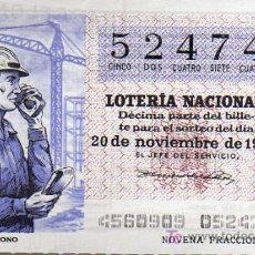 Lotería Nacional: LOTERIA NACIONAL - 20 NOVIEMBRE 1976 - RADIO TELÉFONO. Lote 14558575