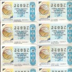 Lotería Nacional: POST 356 - PLIEGO LOTERÍA - 15 NOVIEMBRE 1986 - DE FRAY MAURO - 32857 - ADM 2 - LA PAZ (TOLEDO). Lote 15204036