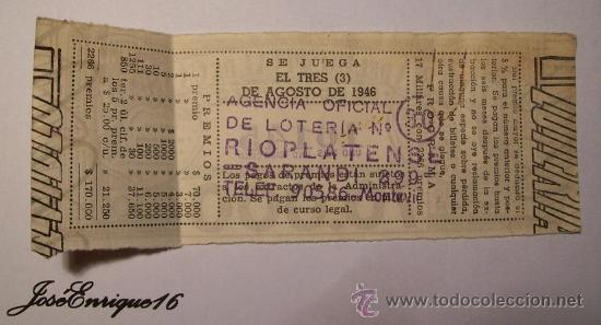 Lotería Nacional: 1946 AGOSTO - LOTERIA URUGUAYA - BILLETE NUMERO 16145 (DECIMO PARTICIPACION SEXTO) - Foto 2 - 27321027