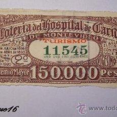 Lotería Nacional: LOTERIA URUGUAY - ABRIL 1946 - NUMERO 11545. Lote 27343885