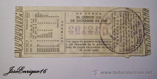 Lotería Nacional: HOSPITAL DE CARIDAD MONTEVIDEO - LOTERIA URUGUAYA - NUMERO 12192 - Foto 2 - 27503801