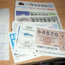 Lotería Nacional: 27 DECIMOS DIFERENTES DE LOTERIA NACIONAL DEL 2003. Lote 16083838