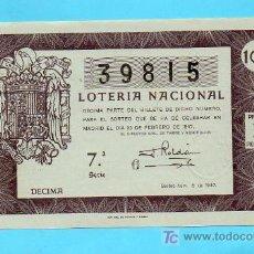 Loterie Nationale: LOTERIA NACIONAL SORTEO 6 DE 1947. Lote 18754436