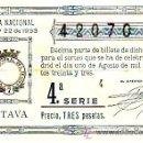 Lotería Nacional: LOTERIA NACIONAL SORTEO 22 DE 1933. PRECIO 3 PESETAS. MAS COLECCIONISMO EN RASTRILLOPORTOBELLO. Lote 24912592