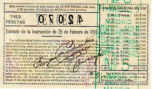 Lotería Nacional: reverso - Foto 2 - 27176133