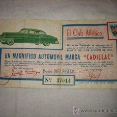 Lotería Nacional: EL CLUB ATLETICO TETUAN RIFA UN MAGNIFICO AUTOMOVIL MARCA CADILLAC AGOSTO DE 1953. Lote 24509509