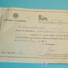 Lotería Nacional: PARTICIPACIÓN DE LOTERIA NACIONAL. Nº 41087 SORTEO DE NAVIDAD 1966. Lote 18157682