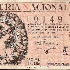 Lotería Nacional: LOTERIA NACIONAL SORTEO Nº 36 DE 1945. Lote 27473615