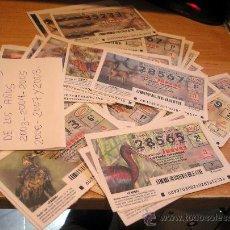 Lotería Nacional: LOTERIA NACIONAL EL JUEVES. 58 BOLETOS ENTRE EL 2003 - 08. Lote 24078482