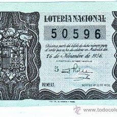 Lotería Nacional: LOTERA NACIONAL SORTEO Nº 33 DE 1956. Lote 19553101