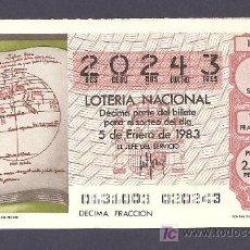 Lotería Nacional: 1983 AÑO COMPLETO LOTERÍA NACIONAL. Lote 19924170