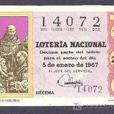 Lotería Nacional: 1967 AÑO COMPLETO LOTERÍA NACIONAL. Lote 30342754