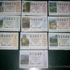 Lotería Nacional: LOTE 1 SERIE COMPLETA 10 DECIMOS LOTERIA NACIONAL PARADORES 2010 MIS OTROS CUPONES Y LOTERIA. Lote 26347637