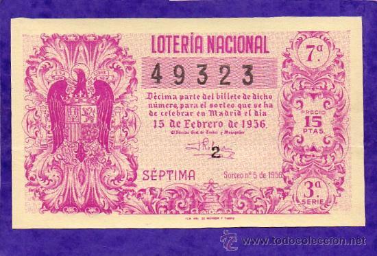 LOTERIA NACIONAL SORTEO 9 DE 1956 (Coleccionismo - Lotería Nacional)