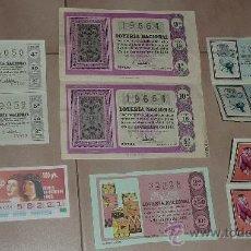 Lotería Nacional: LOTE DE LOTERIA NACIONAL, AÑOS 60S,. Lote 24958027