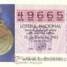 Lotería Nacional: 9-83-2. LOTERIA NACIONAL. SORTEO Nº 2 DE 1983. ASTROLABIO MARINERO S XV. Lote 93750962