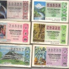 Lotería Nacional: LOTE COMPUESTO POR 6 AÑOS COMPLETOS POR SORTEOS, , AÑOS 73 AL 78. Lote 26877281