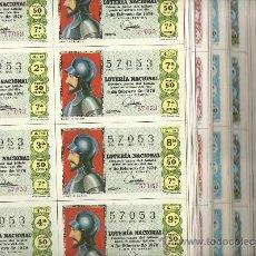 Lotería Nacional: GRAN LOTE DE BLOQUES DE 9 DECIMOS DE LOS AÑOS 1970 AL 1981 (MAS DE 900 BLOQUES). Lote 24643700