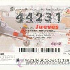 Lotería Nacional: 10-6299. LOTERIA JUEVES, SORTEO Nº 62 DE 1999. AVIONES. ASIA 1-11B. Lote 48439764