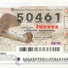 Lotería Nacional: 10-6699. LOTERIA JUEVES, SORTEO Nº 66 DE 1999. AVIONES CASA-BREGUET XIX. Lote 24793201