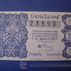 Lotería Nacional: LOTERIA NACIONAL , AÑO 1955, SORTEO 22. Lote 25196160