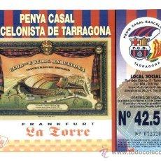 Lotería Nacional: PARTICIPACION LOTERIA PENYA CASAL BARCELONISTA TARRAGONA. AÑO 2002. FC BARCELONA. BARÇA.. Lote 26913481