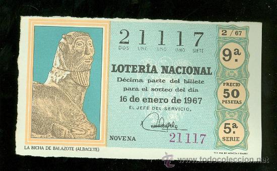 LOTERIA NACIONAL Nº 2. 1967. (Coleccionismo - Lotería Nacional)