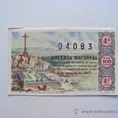 Lotería Nacional: LOTERIA NACIONAL, Nº04083, SORTEO Nº13, 5 DE MAYO DE 1962. Lote 27665263