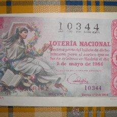 Lotería Nacional: LOTERÍA NACIONAL - 5 MAYO DE 1964. Lote 27914107