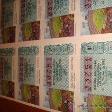 Lotería Nacional: LOTERIA NACIONAL BILLETE 10 DECIMOS, 30 DE OCTUBRE 1982 GRADA DE FUTBOL SEGUIDORES. Lote 29355816