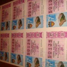 Lotería Nacional: LOTERIA NACIONAL BILLETE 10 DECIMOS, 16 DE OCTUBRE 1982, ESTADIO LUIS CASANOVA VALENCIA. Lote 29355827